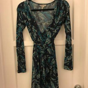 Bcbg mini wrap dress xs